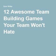 These 12 team-building games help any team learn about each other — how each person thinks, works, solves problems, and has fun. Fun Office Activities, Office Team Building Activities, Team Bonding Activities, Team Building Skills, Train Activities, Teambuilding Activities, Icebreakers, Class Activities, Ice Breakers For Work