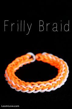 How to Make a Frilly Braid Bracelet - Rainbow Loom video tutorial
