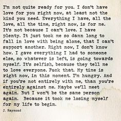I'm not ready for you love quotes life quotes quotes quote life quote love quote sad quotes
