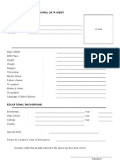 Bio Data Sheet 1 Resume Objective Sample, Job Resume Format, Job Resume Template, Resume Pdf, Cv Format, Resume Format Free Download, Biodata Format Download, Marriage Biodata Format, Bio Data For Marriage