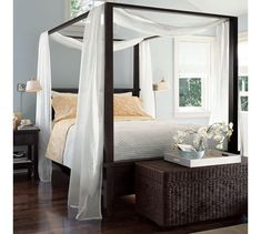 "Canopy Bed Drape farmhouse canopy bed from pottery barn. ""canopy"" from two"