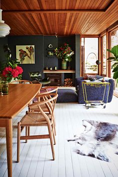 For the Drama Lover: A High Contrast Look For Your Walls & Floors
