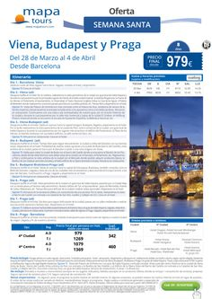 Viena-Budapest-Praga Semana Santa desde Barcelona**Precio final desde 979** ultimo minuto - http://zocotours.com/viena-budapest-praga-semana-santa-desde-barcelonaprecio-final-desde-979-ultimo-minuto/