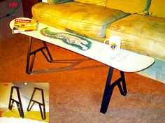 Diy Snowboard Furniture Metal Coffee Table Legs Or Metal Bench Legs 14.75 Inch…
