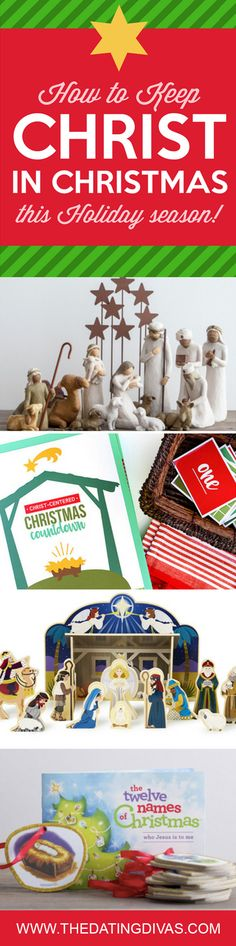 Our favorite Christ-Centered Christmas product and ideas. How to Keep CHRIST in Christmas!