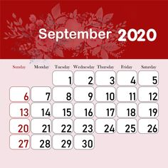 تقويم الشهر 2020 سبتمبر Kids Calendar, Calendar 2020, Ramadan, Printable Calendar Template, Calendar Wallpaper, Flower Studio, Tight Budget, Months In A Year, Card Templates