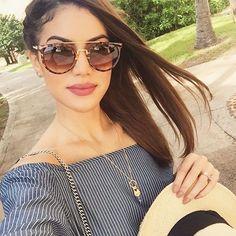 Tropical selfie ! haha (o óculos lindo é uma das minhas escolhas de @estiloeuro ) #mexico #estiloeuro #europorcamilacoelho