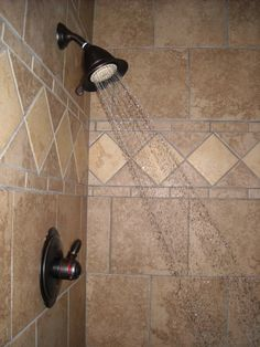 Custom tiled shower by pinemeadowcabins, via Flickr