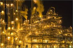Picture of Equipment at an oil refinery facility.