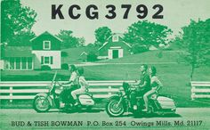 Bud & Tish Bowman - Owings Mills, Maryland QSL Card