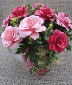 Paper Flower Beautiful Arrangement  in Large by SweetPeasFlorals, $25.00