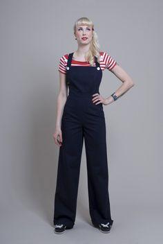 """Overalls & Jumpsuits - Overall """"Sue"""" navy - ein Designerstück von FrozenHibiscus bei DaWanda"""