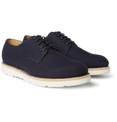 GucciRubber-Sole Canvas Derby Shoes MR PORTER
