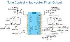 Tone Control + Subwoofer Filter Output