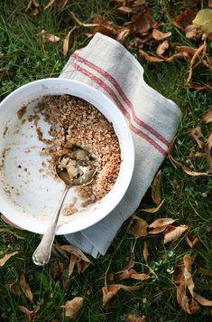 Vegan Pear Pecan Crumble #healthy #dessert #recipe #vegan #pudding