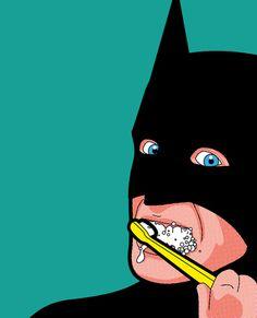 Batman Brushes Teeth