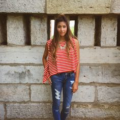 Free People + stripes    To order, call us at 4794342318!