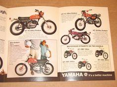1971 Yamaha XS1 R5 DT1 RT1 CT1 AT1 AT1MX DT1MX RT1MX Sales Brochure Vintage | eBay