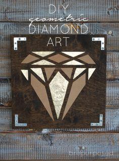 DIY Geometric Diamond Art :: brepurposed