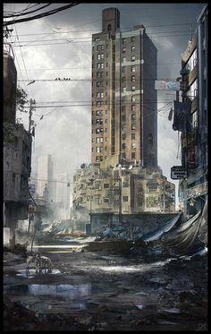http://abandonedproject.com/ ArtStation - Abandoned city, Darius Kalinauskas