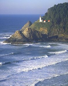 Haceta Head Lighthouse, Florence, Oregon. I've stayed here at the Bed and Breakfast. It's stunning!