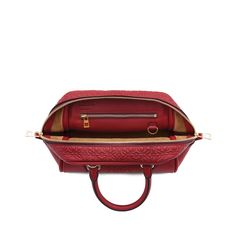 Loewe Amazona 75 Small Bag Brick Red | New Amazona, in calf leather engraved with a repeat pattern of small Anagrams | Based on the trapezoidal silhouette of the original Amazona launched in 1975 | Key characteristics: soft, ultralight construction; high grade exposed leather | Color: Brick red | Materials: Engraved calf | Measurement: 23x19x14 cm | Handle drop: 8 cm | Strap Length: 50,4 cm | Line: Amazona | Model Id: 301.55.L01 | 1.400€