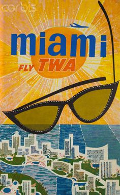 Miami Fly TWA Poster by David Klein