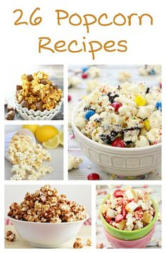 If you are a popcorn lover, then check out these delicious popcorn recipes to fit any craving: spicy popcorn, savory popcorn, sweet popcorn, dessert popcorn... Featuring oreo popcorn, peanut butter and jelly popcorn, caramel popcorn, white chocolate popco