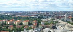 view of Stockholm from the Ericsson Globe