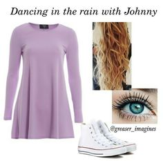 Dancing in the rain ☔ Girl Greaser Outfit, Greaser Style, Girl Outfits, Cute Outfits, Fashion Outfits, Fandom Fashion, Casual Cosplay, Stay Gold, Ootds