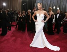 Charlize Theron by Dior Haute Couture at the 85th edition of the Oscars.