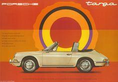Porsche Poster 911 Targa 1967 Reprint 2013 Größe: 42 x 59,5 cm | eBay