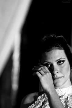 Noiva chora... Foto: Foco Estúdio.
