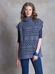 Ravelry: McKenna pattern by Marie Wallin. Blue crocheted textured and openwork tunic w/ funnel neck - FREE pattern (hva)
