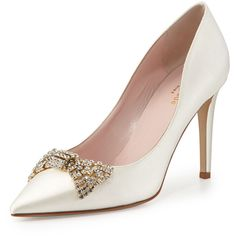 kate spade new york pezz satin crystal bridal pump, ivory and other apparel, accessories and trends. Browse and shop 8 related looks.