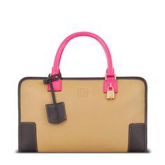 Loewe Amazona Handbag in Gold/Magenta (I want this bag more than I can say.)