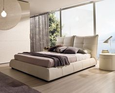 Ellelle Bed by la Falegnami Tv Furniture, Furniture Making, Home Bedroom, Master Bedroom, Headboards For Beds, Double Beds, Contemporary Furniture, Upholstery, Relax