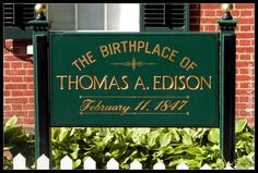 Thomas Edison Birthplace