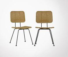 Chaise plastique pieds bois design scandinave inspirée grand designer Structure Metal, Dining Chairs, Designer, Inspiration, Furniture, Home Decor, Style, Black Metal