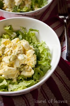 Not-too-creamy egg salad