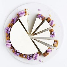 Blueberry frangipane tart decorated with some of my favourite things: lilacs and mini macarons  I'll share the recipe on my blog later today - both in Danish and in English!