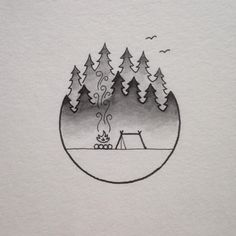 Pen and ink drawings by david_rollyn.