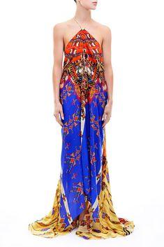 Shahida Parides - 3 Ways Convertible Maxi Dress in Pottery Best Maxi Dresses, Backless Maxi Dresses, Nice Dresses, Strapless Dress, Formal Dresses, Maxi Skirts, Dress Skirt, Dress Up, Navajo Pottery