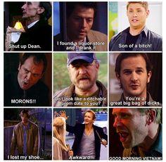 Pretty much Supernatural summed up (: