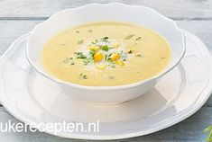 Kokos mais soep met koriander