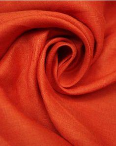 Pure Linen Fabric   Tomato Red   Truro Fabrics