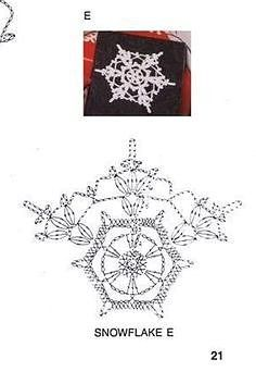 Crochet Snowflake Pattern, Crochet Stars, Crochet Snowflakes, Granny Square Crochet Pattern, Crochet Diagram, Crochet Motif, Crochet Doilies, Crochet Flowers, Crochet Patterns