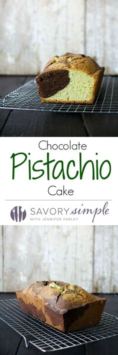 """This chocolate pistachio cake is a dense, moist treat that's adapted from my grandmother's """"famous"""" recipe. Get the easy-to-follow recipe from SavorySimple.net"""
