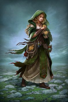 Reasonably-clothed fantasy female characters for your next D&D campaign.