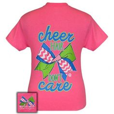 Girlie Girl Preppy Classy Cheer Hair Dont Care Cheerleading Pink T-Shirt
